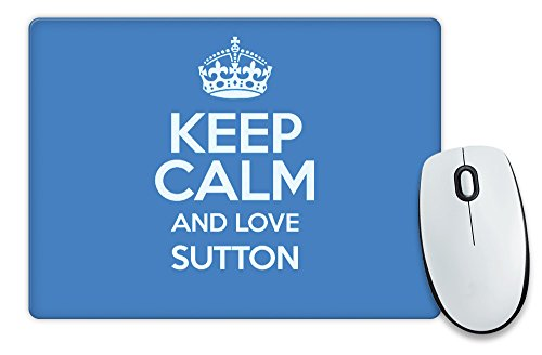 "Blu con scritta ""Keep Calm and Love Sutton-Tappetino per il Mouse COLOUR 0638-Stivaletti alla caviglia"