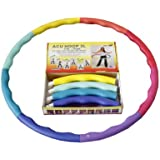 Weight Loss Sports Hoop® Series: Acu Hoop® 3L - 3.3lb (1.5kg) Large, Weighted Fitness Exercise Hula Hoop