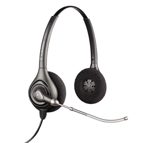 Plantronics SupraPlus HW261/A Wideband Binaural Voice Tube Headset - Black