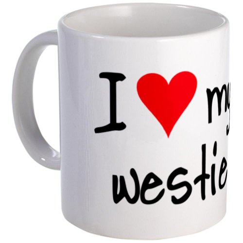 CafePress - I LOVE MY Westie Mug - Unique Coffee Mug, 11oz Coffee Cup