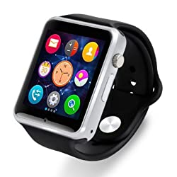 KingDo Bluetooth Android Watch 3G Phone with Camera E118 Black