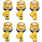 Laxmi Collection (Pack Of 6) Minions Hand Fan For Kids, Return Gift For Kids Birthday Party (For More Gift Search For Laxmi Collection)