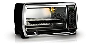 Oster TSSTTVMNDG Digital Large Capacity Toaster Oven, Black/Polished Stainless Accents by Oster