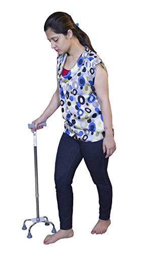 JSB-W11-Quadripod-Orthopedic-Walking-Stick-Height-Adjustable-(Silver)