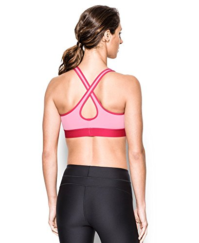 Under Armour Women's Armour Crossback Mid, Pink Sky (600), X-Small