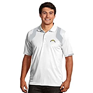 San Diego Chargers Fusion Polo (White) by Antigua