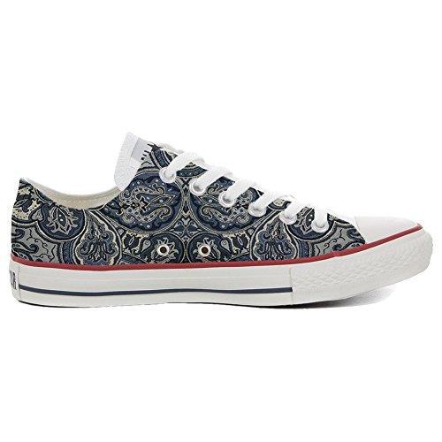 Converse All Star Hi chaussures coutume (produit artisanal) Blue Paisley