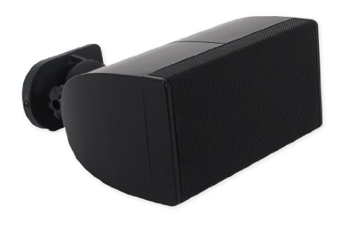 Pure Resonance Audio Unisat Mini Cube Small Center Channel Speaker Black Bracket Included- Single Speaker