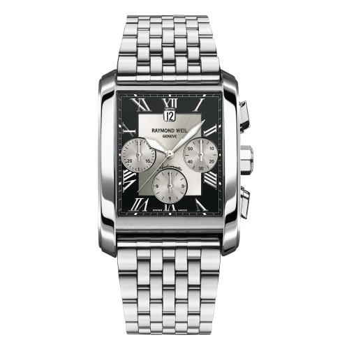 Raymond Weil Men's 4878-ST-00268 Don Giovanni Rectangular Case Automatic Movement Watch
