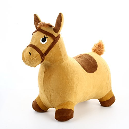 Hopping Horse - Inflatable Hopping Horse Plush covered with pump