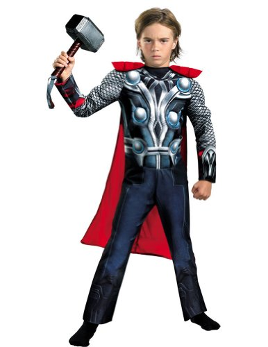 Thor Avengers Classic Muscle Kids Costume 4-6 Kids Boys Costume