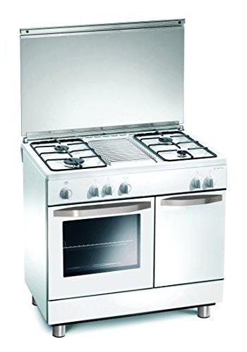 Cuisinire--gaz-90x60x85-cm-blanc-4-feux-avec-four--gaz-Regal-RC7964GW
