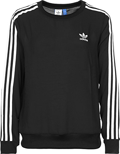 Adidas felpa Chiffon 3-Stripes Donna, Donna, Chiffon 3-Stripes, nero, 44