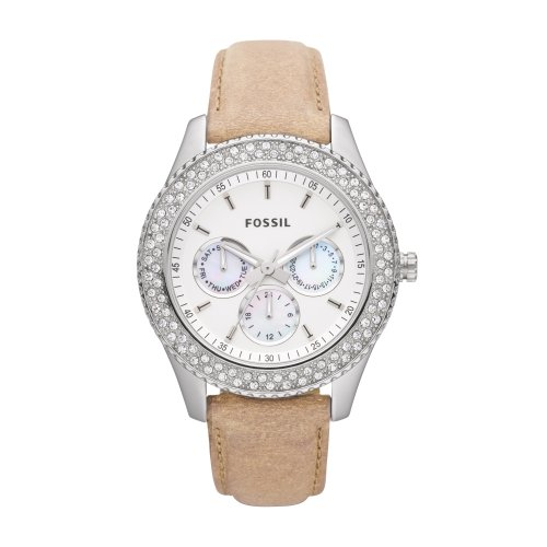 Fossil ES2997 Ladies Stone Set Case Multi Dial Watch