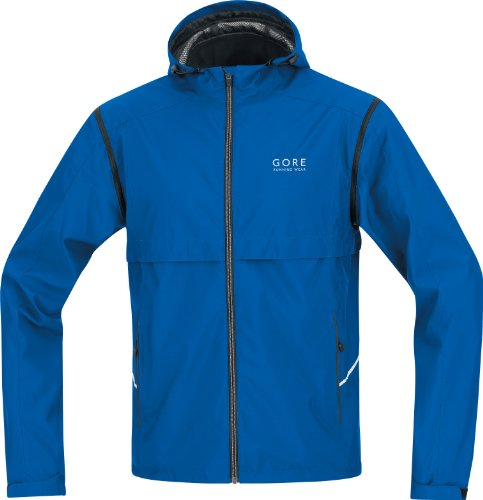 Gore Essential Running Wear Men's Jacket Active Shell Zip-Off