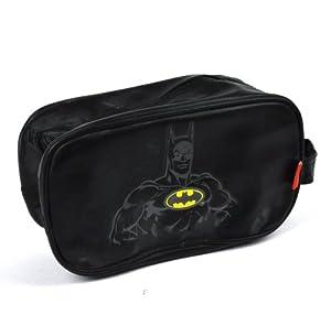 BATMAN DC COMICS RETRO TOILETRIES WASH TRAVEL BLACK BAG GYM SPORTS ...