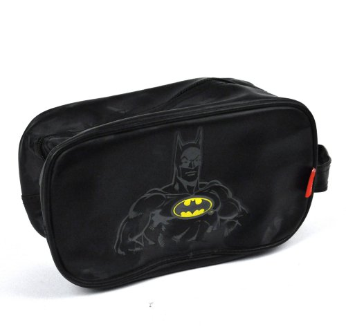 BATMAN DC COMICS RETRO TOILETRIES WASH TRAVEL BLACK BAG GYM SPORTS HANDBAG 106736