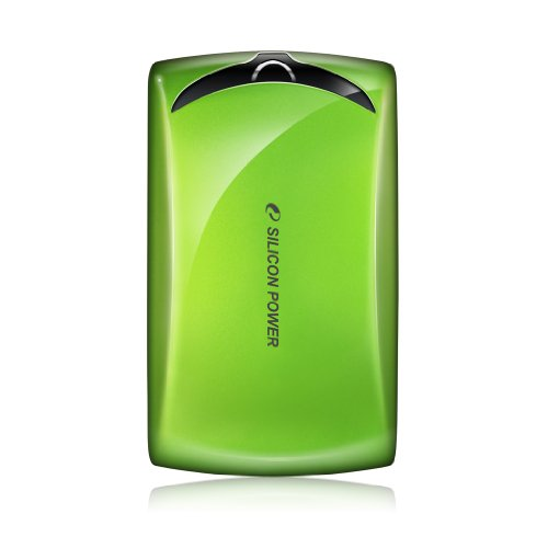 Silicon Power SP750GBPHDS10S3N Stream S10 Portable 750 GB 3.0 USB External Hard Drive (Green)