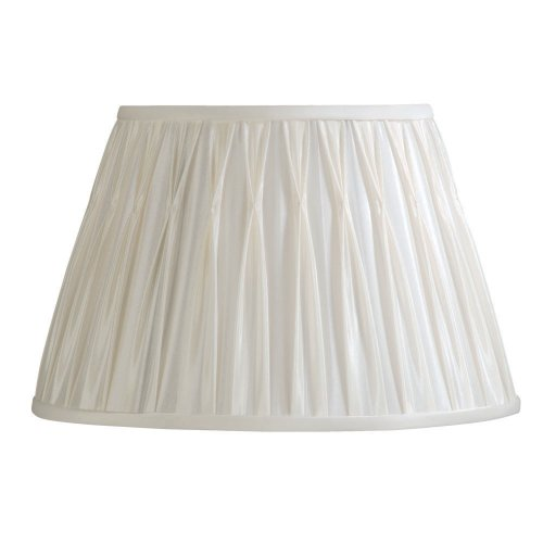 Laura Ashley SFP416 Classic 16-Inch Pinched Pleat Shade, Vanilla