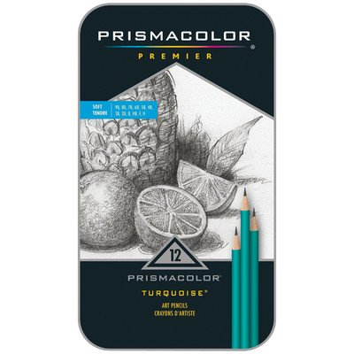 prismacolor-premier-turquoise-soft-grade-graphite-pencilsart-pencils1-pack-of-12