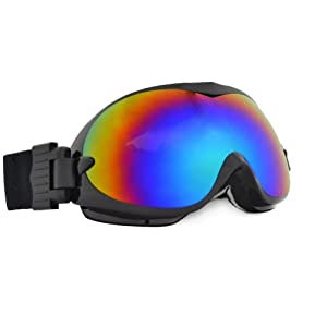 Baleaf Black Frame Gray Lens Snowmobile Motorcycle Ski Goggles
