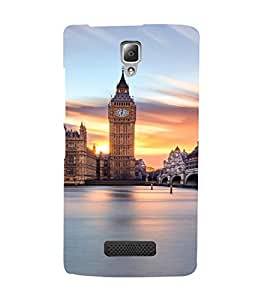 PrintVisa Travel London Big Ben Design 3D Hard Polycarbonate Designer Back Case Cover for Lenovo A2010