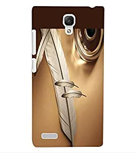 ColourCraft Lovely Feathers Design Back Case Cover for XIAOMI REDMI NOTE 4G
