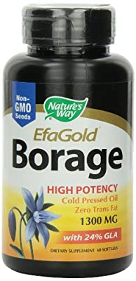 Nature's Way Borage Oil 1300mg, 60 Softgels