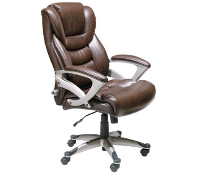 brown leather office chair. Black Bedroom Furniture Sets. Home Design Ideas