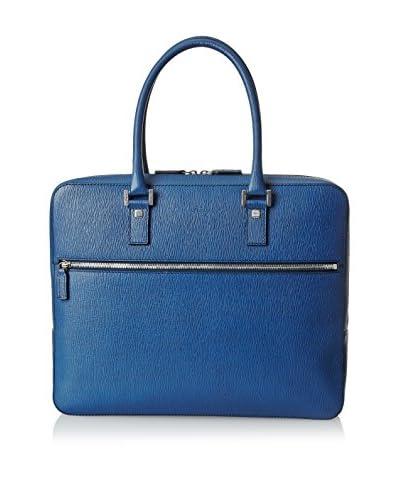 Salvatore Ferragamo Men's Bag, Dutch Blue Pebble Calf