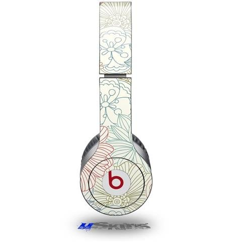 Flowers Pattern 02 Decal Style Skin (Fits Beats Solo Hd Headphones - Headphones Not Included)