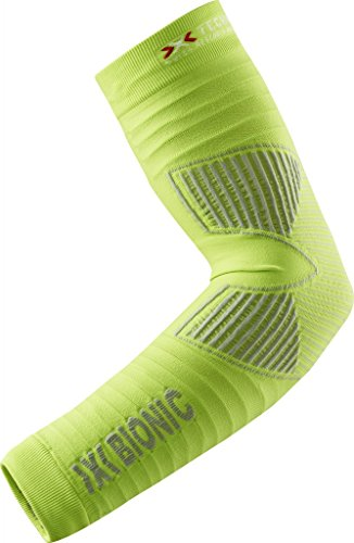 X-Bionic adulto funzione abbigliamento Biking OW Effettore Arm caldo DX SX No Seam, Unisex, Funktionsbekleidung Biking Effektor OW Arm Warmer DX SX No Seam, Green Lime/Pearl Grey, S/M