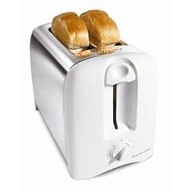 Hamilton Beach 22609 2 Slice White Proctor-Silex Cool Wall Toaster