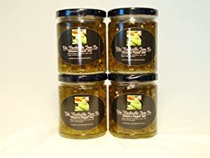 ALL NATURAL Spicy Jalapeno Pepper Jelly by The Nashville Jam Company, 10.5 oz (4 Pack)