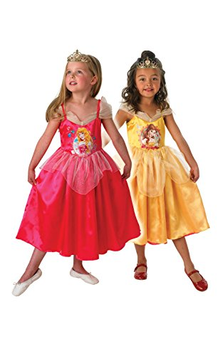 DISNEY PRINCESS ~ Sleeping Beauty To Golden Belle (Reversible) - Kids Costume 7 - 8 years