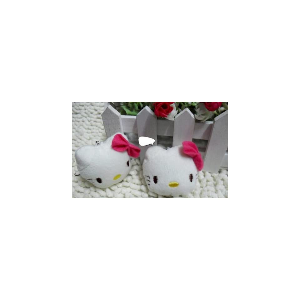 Cute Hello Kitty Face Cell Phone Charms/Phone Chain/Phone Strap for Cellphones,white