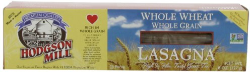 Hodgson Mill Whole Wheat Whole Grain Lasagna, 8-Ounce Units (Pack of 12)