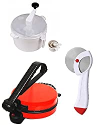 GTC COMBO OF EAGLE RED ROTI MAKER, DOUGH MAKER AND PIZZA CUTTER