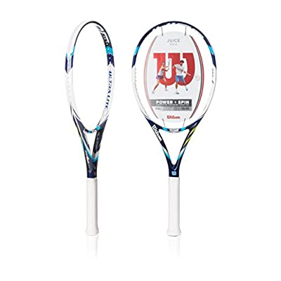 "Wilson Juice 100UL Ultra Light Tennis Racquet, 4.375, 4.375""/Red"