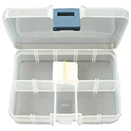 Pandahall 15 Units 10 Compartment Organiser Storage Plastic Box, for Loom Bands Craft or Nail Art Beads, 7x13x2.3cm