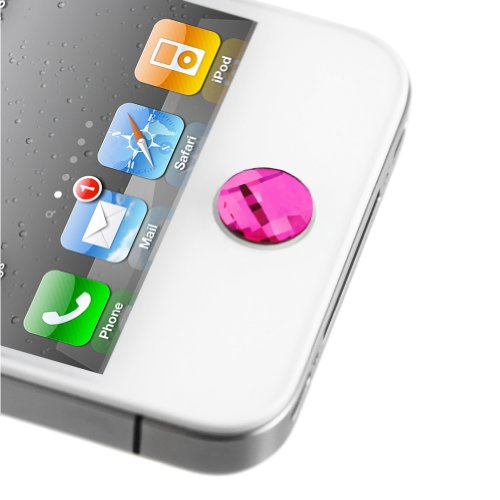 Minisuit Apple Iphone, Ipad, Ipod, Ipod Touch Crystal Diamond Home Button Decal And Sticker (Pink Champagne) Lcd Cleaner Included