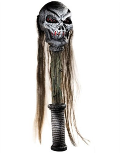 Voodoo Head Shrinker Costume Skull Hand Staff Scepter
