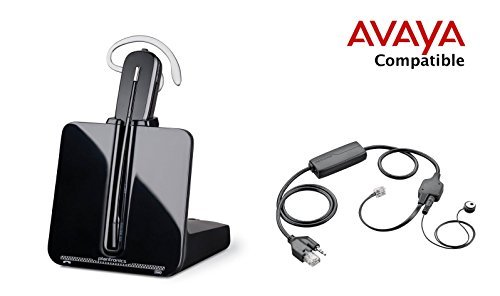 Avaya Compatible Plantronics CS540 VoIP Wireless Headset Bundle with Electronic Remote Answer|End and Ring alert (EHS) for Avaya Phones: 1600, 9600 IP Phones: 1608, 1616, 9601, 9608, 9610, 9611, 9611G, 9620, 9620C, 9620L, 9621, 9630, 9640, 9640G, 9641, 9650, 9650C, 9670 (Remote Telephones compare prices)