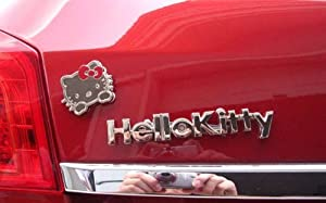 3D Hello kitty Decal Emblem 3M Metal Hello Kitty Auto Car Sticker from ETIE