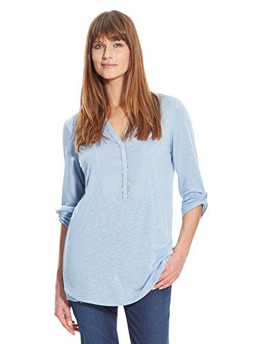 Balsamik - Tunica bimateriale, tessuto e raso - donna - Size : 54/56 - Colour : Azzurro
