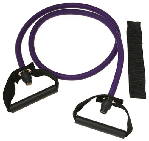 SPRI ES503R Xertube Resistance Band with Door Attachment and Exercise Charts (Purple, Very Heavy)