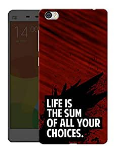 """Humor Gang Life And Choice Motivational Quote Printed Designer Mobile Back Cover For """"Xiaomi Redmi Mi5"""" (3D, Matte, Premium Quality Snap On Case)"""