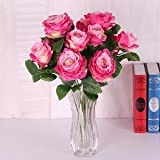 Alcoa Prime Artificial Plant Silk Rose Flower Bulk Craft Wedding Garden Decor Rose Red