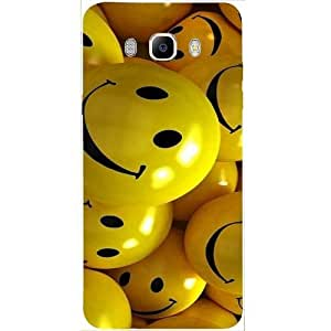 Casotec Smiles Smile Yellow Design Hard Back Case cover for Samsung Galaxy J5 (2016)