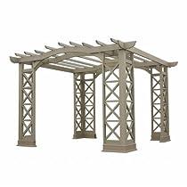 Hot Sale Yardistry Arched Roof Pergola Gazebos with Plinth, Grey